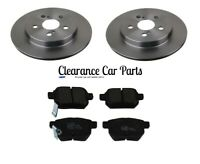 FOR TOYOTA PRIUS 1.8 HYBRID REAR BRAKE DISCS AND PADS 2009 TO 2016 TOP QUALITY
