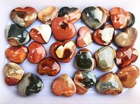 5 Pcs Natural Polished Polychrome Ocean Jasper Reiki Heart From Madagascar