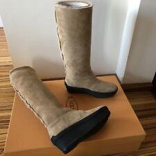 100%Original TOD'S Wildleder High Platform Boots/ Stiefel beige Gr.36 Neu BOX