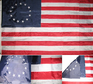 3x5 Embroidered Betsy Ross USA American 210D-S Sewn Nylon Flag 3'x5' Made in USA