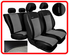 PREMIUM Leatherette full set CAR SEAT COVERS fit TOYOTA AYGO (A) black/grey