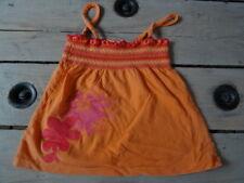 Débardeur à bretelles orange brodé rose imprimé fleurs SHINY T 5 ans proche NEUF