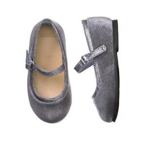 NWT Gymboree Winter Star Gray Velvet Flats Shoes Girls & Toddler Many Sizes