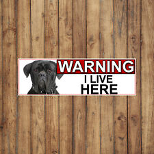More details for cane corso warning i live here metal gate sign 266mm x 87mm. (982h2)