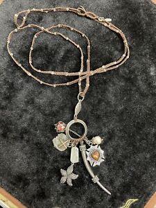 Love Heals Necklace, 23 Inch Pearl Starfish Pirate Dabloom Brown Woven Unique