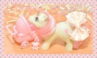 ❤️My Little Pony MLP G1 Vintage 1985 Cuddles Baby Buggy Pony NBBE Pink Rattle❤️