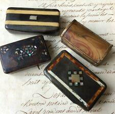 4 Anciennes Boites à Tabac Tabatières à RESTAURER Epoque XIXéme Snuf Box