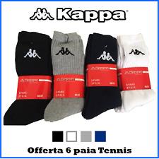 6 paia calze calzini da uomo sport sportive tennis corte donna cotone di spugna