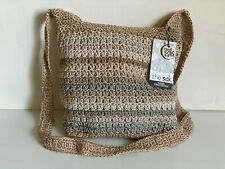 NEW! THE SAK RIVIERA CROCHET TERRA STRIPE MEDIUM SLOUCH HOBO CROSSBODY SLING BAG