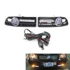 2Pcs/Set LED FOG LIGHT GRILLE COMPLETE Kit Fit FOR VW BORA MK4 99-04 Blue Lens