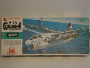 HASEGAWA - 1:72 A-7A CORSAIR II. Box opened, Kit unassembled.