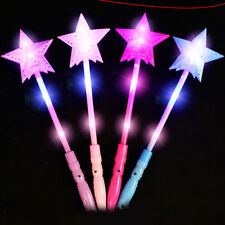 Star Shape Glow Sticks Bulk Light Up Plastic LED Wand Rally Party Cheer Stick
