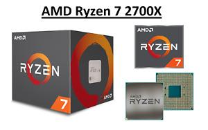 AMD Ryzen 7 2700X Octa Core Processor 3.7 - 4.3 GHz, Socket AM4, 105W CPU Only