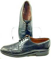 E.T. Wright Oxford Mens Size 11 D Black Leather Apron Toe Lace Up Dress Shoe USA