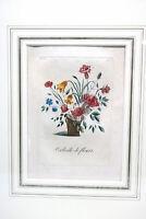 Farbkupferstich um 1810 Paris Corbeille de Fleurs