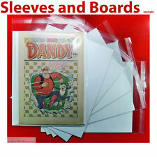Dandy Comic Bags and Boards Clear Resealable / Tape Seal TALL Size4 A4+ NEW x 10