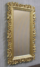 LACY  EDGED  MIRROR ~  Dollhouse Miniature~ 1:12 scale ~ 2 direction ~ Room Box