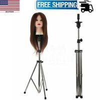 Adjustable Tripod Manikin Mannequin Head Hairdressing Training Stand Wig Holder