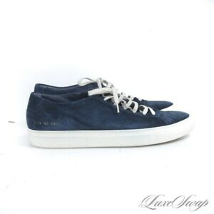 LNWOB Common Projects Made in Italy 2276 Navy Suede Achilles Low Sneakers 43 NR