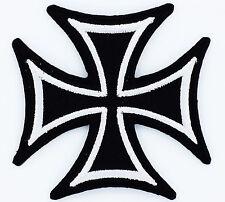PATCH Croix de malte BIKER USA REBEL motard maltese cross Thermocollant NEUF