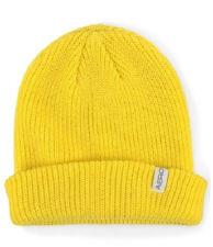 Aeropostale Mens Solid Beanie Aero Yellow Or Blue Warm Solid Knit Hat. NWT!