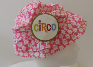 Circo  Girls  Fun Sun Hat INFANT 18 MONTH Floral Pink Yellow