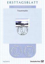BRD 2012: Trauermarke! Ersttagsblatt der Nr. 2920! 1A erhalten!