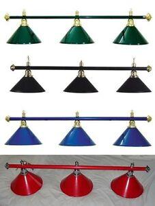 ROSETTA SUPERIOR POOL TABLE LIGHT BILLIARD SNOOKER CHROME LIGHTING SHADE CANOPY