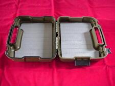 Montana Fly Company Olive Waterproof Boat Fly Box Storage Box Great New
