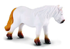 CollectA 88163 White Grey Shetland Pony Toy Backyard Model Horse Replica - NIP