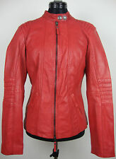 TOM TAILOR LEATHER JACKET Bikerjacke Damen Lederjacke Rot Gr.M NEU mit ETIKETT