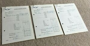3 1961 Jockey's Expense Account Forms Signed & Completed by Roy Podmore