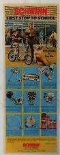 1971 SCHWINN accessories ad ~ First Stop To School