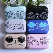 Contact Lens Box Case Eyes Care For Travel Storage Glasses Cats Container Mirror