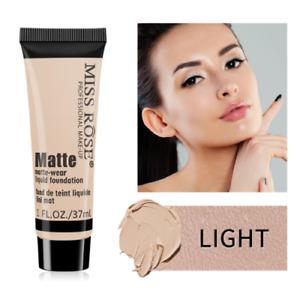 Miss Rose Matte Face Liquid Foundation Cream Concealer Primer Waterproof UK
