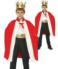 BAMBINO Ragazzi Medievale Tudor King Costume Libro Settimana Natale Natività