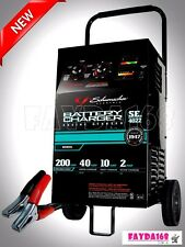 Battery Charger Wheeled Heavy Duty Manual Engine Jump Starter Booster Emergency