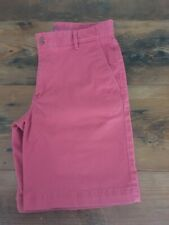 NWT Mens IZOD Shorts Red Saltwater Chino Stretch Relaxed Soft Flat Front