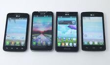 Lot of 4 Working LG Smartphones - L39C / Viper 4G / MS659 / L16C