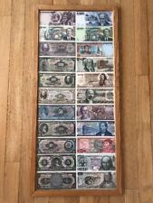 Vintage Mexican Pesos,Currency, Banknotes-Lot of 22, Uncirculated,Museum Framed