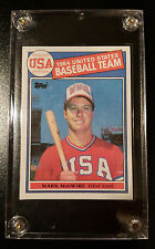 MARK MCGWIRE 1985 TOPPS 1984 USA BASEBALL TEAM # 401 ROOKIE RC UNGRATED