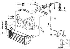 Oil Cooler, Bmw, 17212325525, R1100GS, R850GS