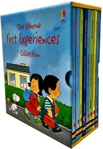 Usborne First Experiences Collection 8 Books Box Set Pack Going to School, Plane