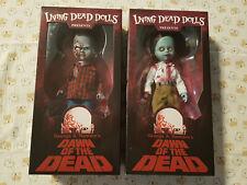 Plaid Shirt Zombie & Flyboy Living Dead Dolls Dawn of the Dead LDD George Romero