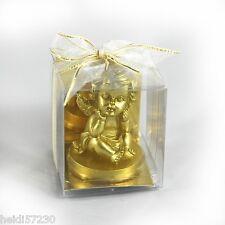 Bougies Angelot doré pour la décoration de table de mariage, de baptême ou Noël