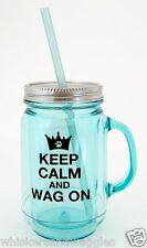 Dog Speak Mason Jar Styled Insulated 20 oz Mug - Keep Calm & Wag On