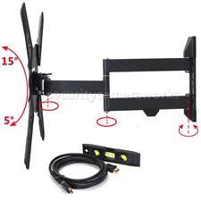 """Articulating Tilt Swivel Tv Wall Mount for Sharp Sony 32-55 Lg Vizio 60"""" Led Bjz"""