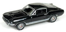 Auto World 1/64 1967 Ford Mustang GT Black Die-Cast AW64182
