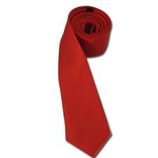 Expédié de Paris - Cravate Fine Rouge Unie Homme Femme Élégante Gothique