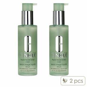 2 PCS Clinique Liquid Facial Soap 200ml x 2= 400ml Cleanser Mild Dry Comb